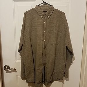 Faded Glory authentic large green button down top